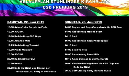 CSD 2019 – Kundgebungen im Stühlinger Park