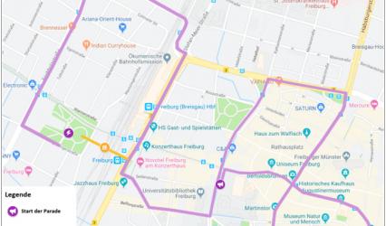 CSD-Route und Zeitplan 2019